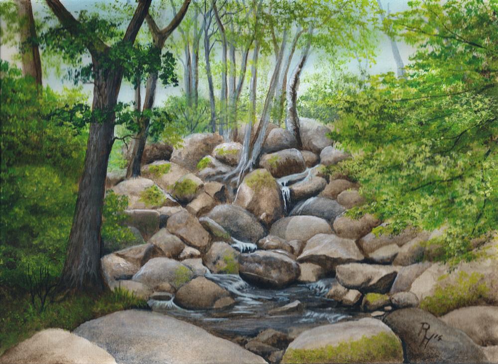 landscape painting by Pat Harrison